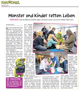 Erste Hilfe-Kurs für Kinder in den Räumen der Kruschel-Redaktion